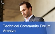 Technical Community Forum Archive