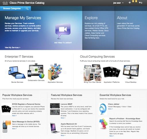 cisco self service portal for intelligent automation cisco