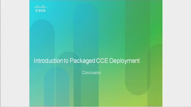 Introduction to Packaged CCE Deployment