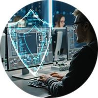プライバシーソフトウェアによって保護されたコンピュータユーザ