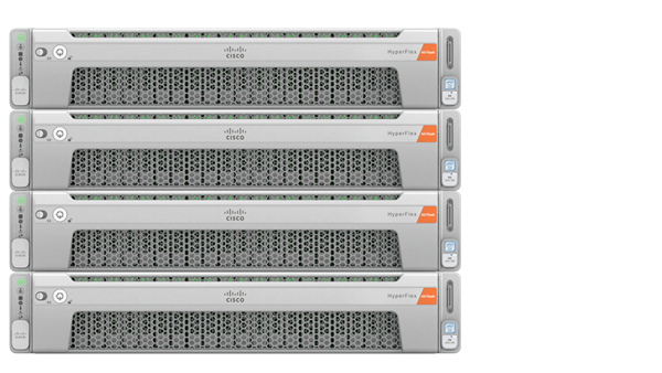 a photo of a Cisco hyperconverged server