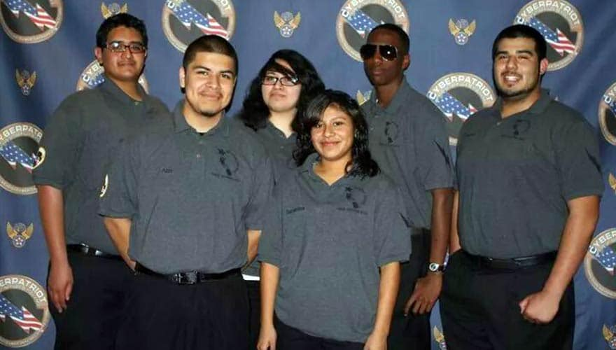 Meet Richard Parker (2nd from right) and his teammates from Locke Charter School in Los Angeles, who competed at the CyberPatriot National Finals in Washington, D.C. in 2011