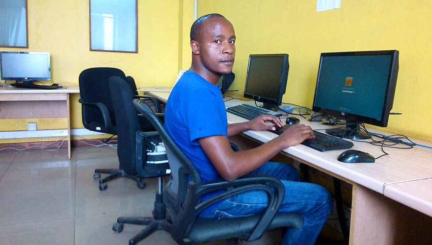 Fredrick Nzioka Soo worked 2 years of hard labor in his Kenyan village before relocating to Mathare, a slum in Nairobi. Today as a Digital Divide Data operator he is pursuing a bachelor of commerce degree at Kenyatta University and supporting his mother and younger brother.