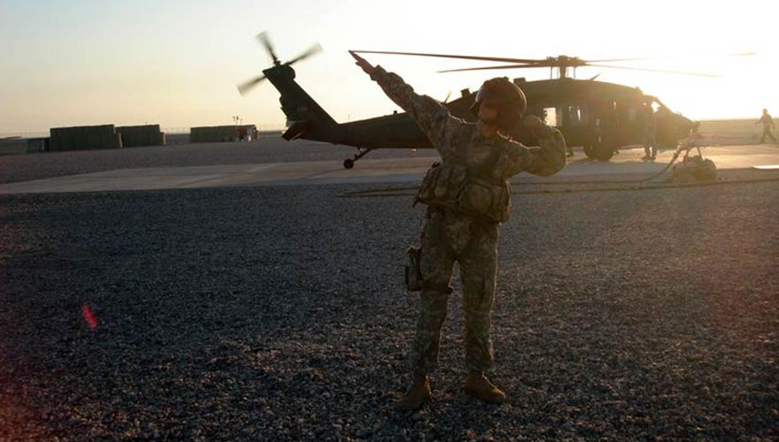 David took to the skies in Iraq, where he installed communication systems onboard helicopters, providing commanding generals the ability to relay strategies across the battlefield.