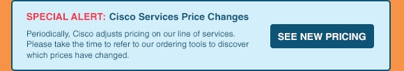 Cisco Jan 2016 Price Changes