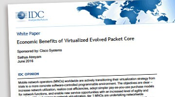Get ready now for 5G and save. IDC sizes up the benefits of a virtualized Evolved Packet Core distributed architecture.