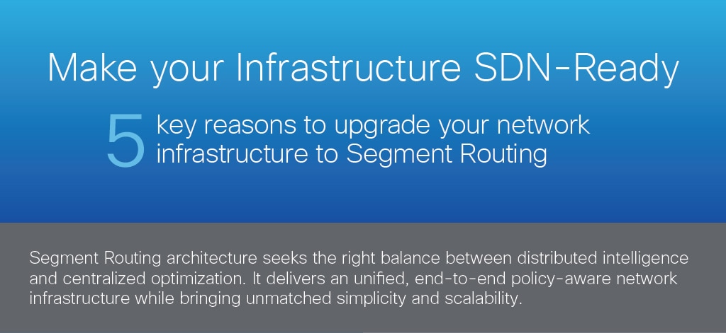 Make your Infrastructure SDN-Ready