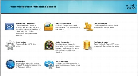 Cisco Configuration Professional for Cisco Access Routers