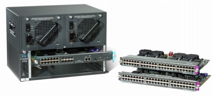 Cisco Catalyst 4503 Switch with Cisco Catalyst 4500 Series Supervisor  Engine II-Plus-TS and Two Line Cards