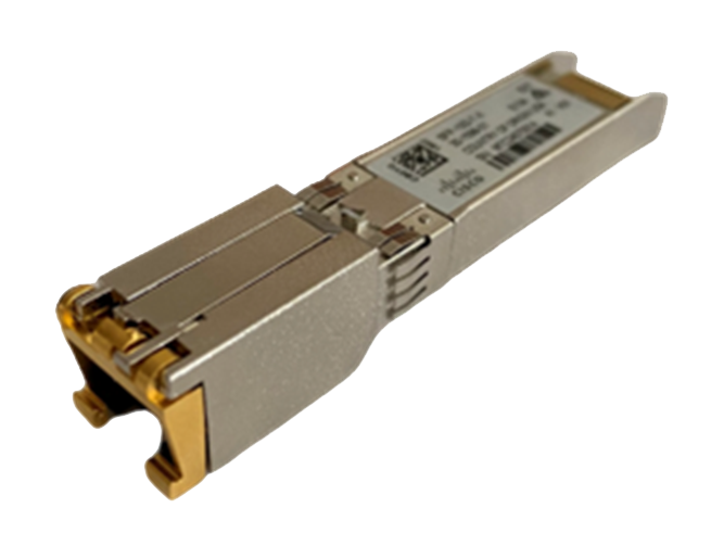 Cisco SFP+ 10GBASE-T module with RJ-45 connector
