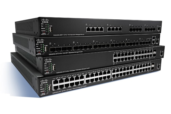 Cisco SG350X-24PD 24-Port 2.5G PoE Stackable Managed Switch