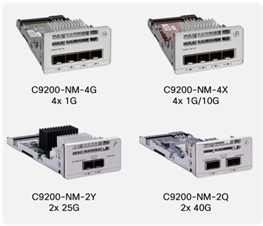 Cisco Catalyst 9200 Series Switch network modules
