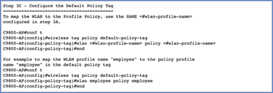 Step 3C - Configure the Default Policy Tag