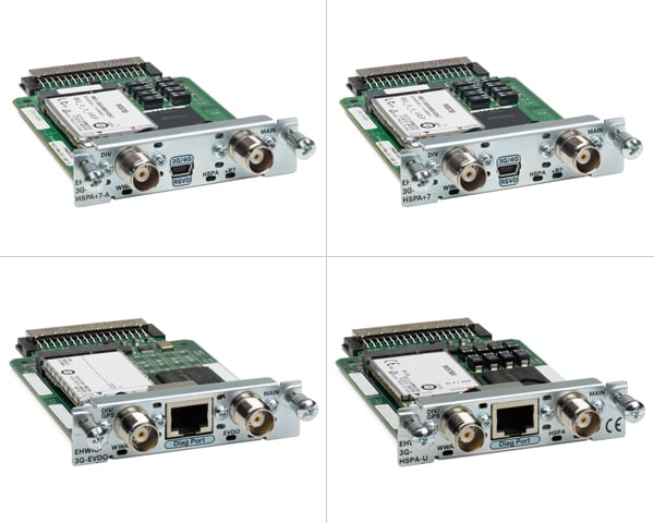Cisco 3G Wireless WAN Enhanced High-Speed WAN Interface Card