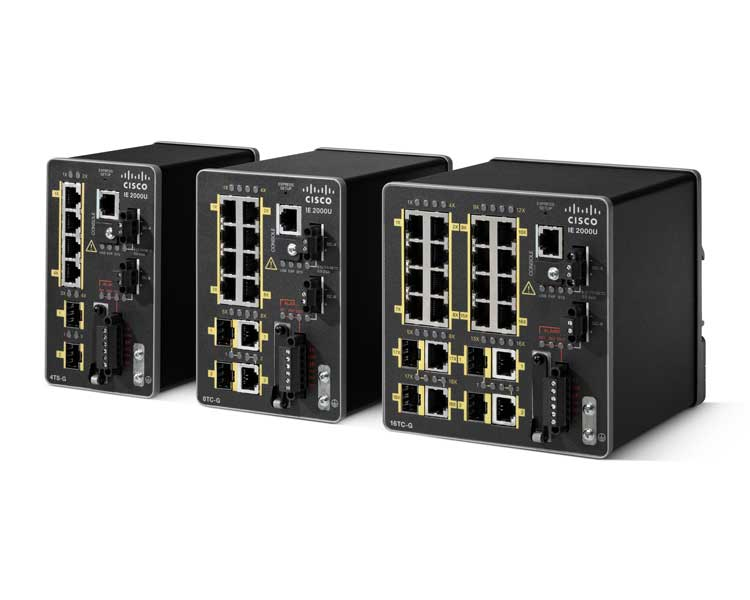 Switch Ethernet industrial de Cisco IE-2000U-16TC-G-X