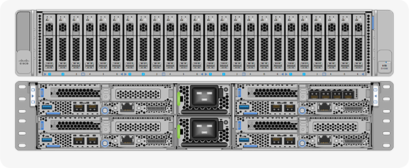 Cisco UCS C4200 Rack Server Chassis with four C125 M5 Server Node