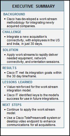 Integrating a Corporate Acquisition - Cisco