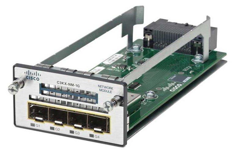 Cisco C3KX-NM-1G Four GbE Port Network Switch Module