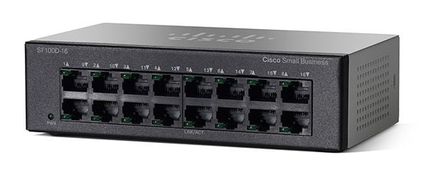 cisco sf100d 16 16 port desktop 10 100 switch cisco. Black Bedroom Furniture Sets. Home Design Ideas