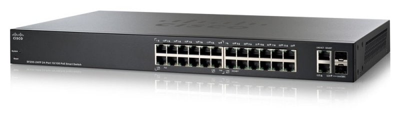 Cisco SF200-24FP 24-port 10/100 Full-PoE Smart Switch
