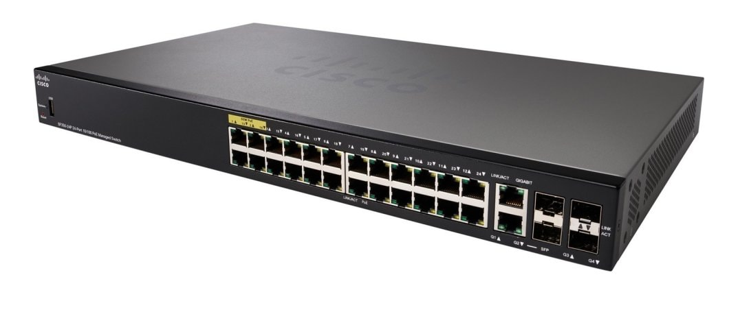 Product image of Cisco SF350-24P 24-Port 10/100 POE Managed Switch