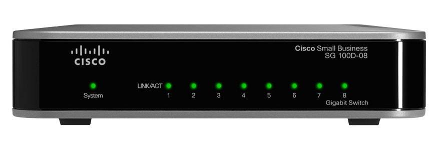 Cisco SG 100D-08 8-Port Gigabit Switch - Cisco