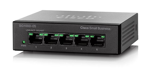 Cisco SG100D-05 5-Port Gigabit Desktop Switch