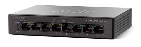 NEW Cisco SG110D-08-NA SG110D-08 Ethernet Switch SG110D08 8 Port Gigabit