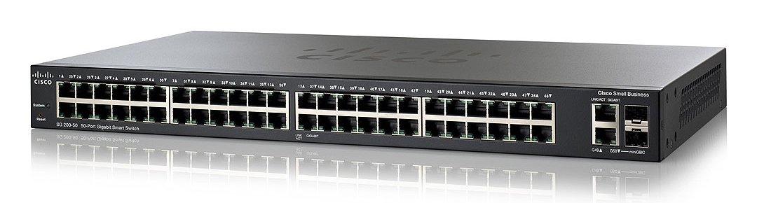 Cisco Sg200 50 50 Port Gigabit Smart Switch Cisco