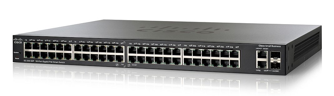 Cisco SG200-50P 50-port Gigabit PoE Smart Switch