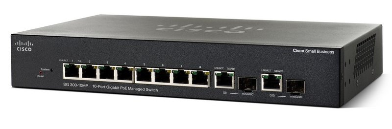 Cisco SG300-10MP 10-Port Gigabit Max-PoE Managed Switch