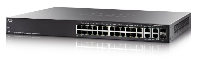 Commutateur géré Maximum-PoE de gigabit de Cisco SG300-28MP 28-port