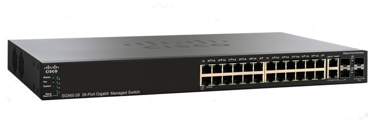Cisco SG350-28 28-Port Gigabit Managed Switch - Cisco