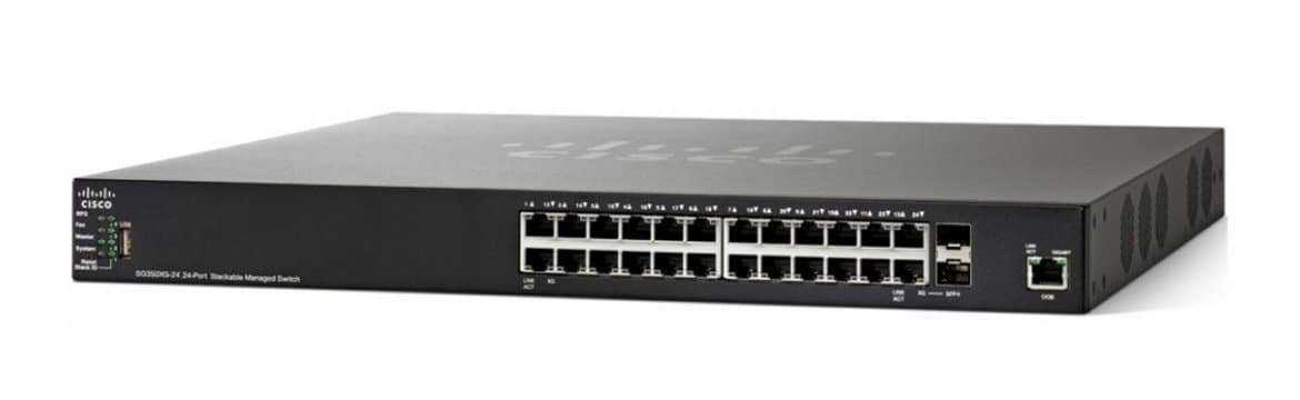 Cisco SG350X-24 24-Port Gigabit Stackable Managed Switch