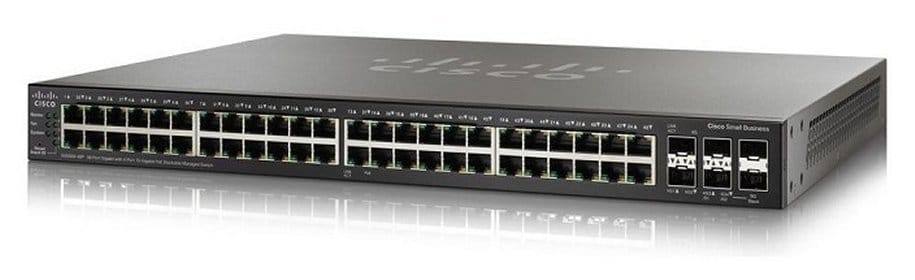 Interruptor controlado empilhável do gigabit de Cisco SG350X-48 48-Port