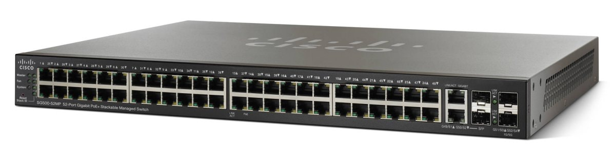 Cisco SG500-52MP 52 1 гбит/са с портом PoE Max + управляемый стекируемый коммутатор