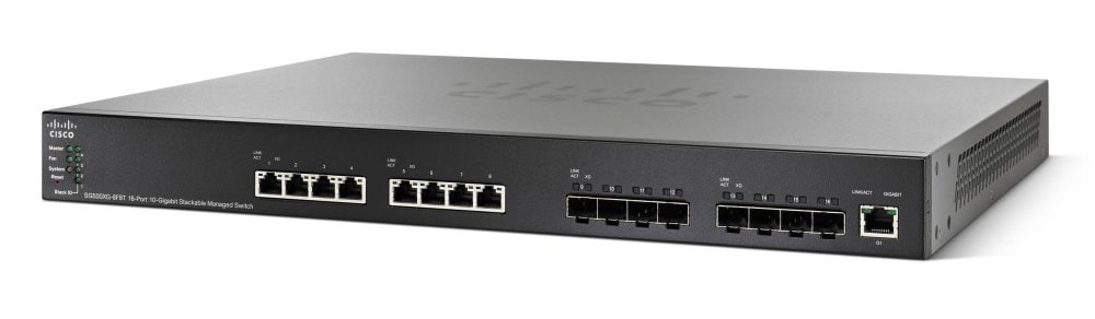 Cisco SG500XG-8F8T 16-port 10-Gigabit Stackable Managed Switch