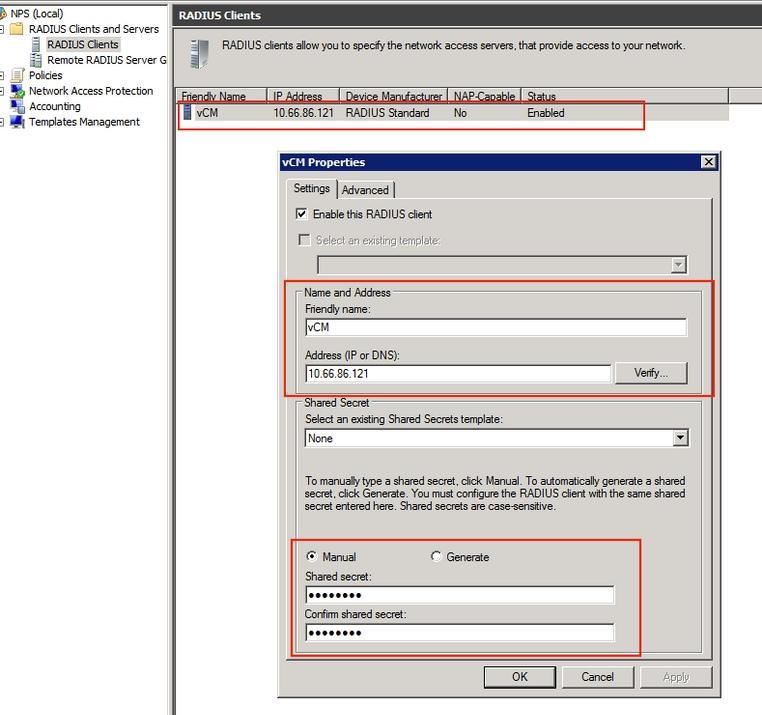 Configure RADIUS For Windows 2008 NPS Server - WAAS AAA - Cisco