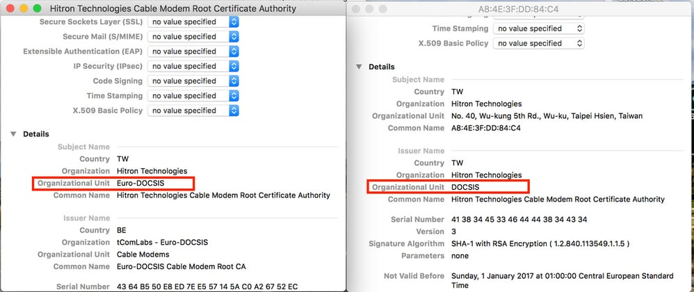 How To Decode Docsis Certificate For Modem Stuck State Diagnosis Cisco