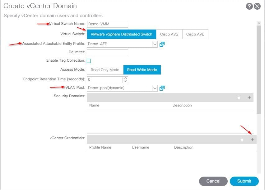 Configure VMM Domain Integration with ACI and UCS B Series