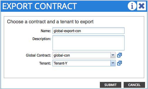 Configuring InterContext Communication Cisco – Export Contract