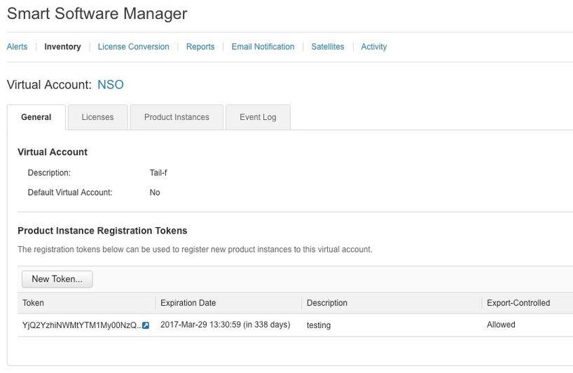 Configure Cisco Smart Licenses with NSO - Cisco