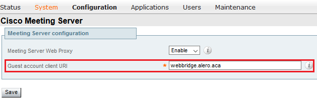 Configure CMS WebRTC Proxy over Expressway - Cisco