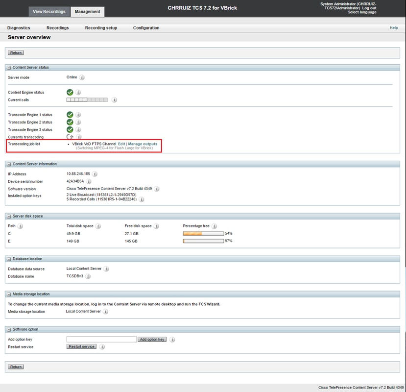 Configure and Troubleshoot TCS Live streaming and Video on