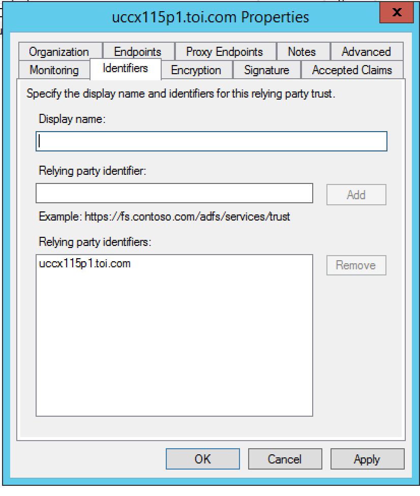 Configure the Identity Provider for Cisco Identity Service