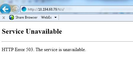 http 503 service unavailable back-end server is at capacity