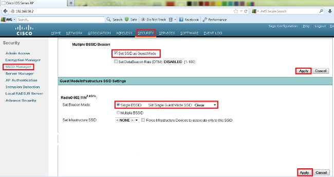 SSID-on-Autonomous-AP-Configuration-Example - Cisco