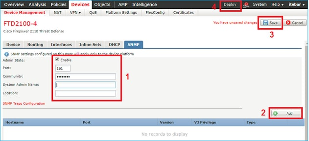 Configure SNMP on Firepower NGFW Appliances - Cisco