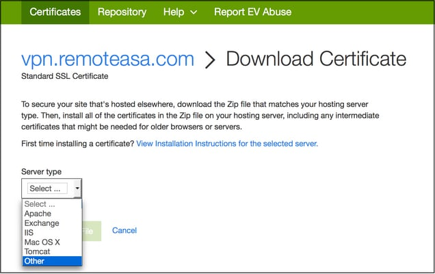Configure Asa Ssl Digital Certificate Installation And Renewal Cisco