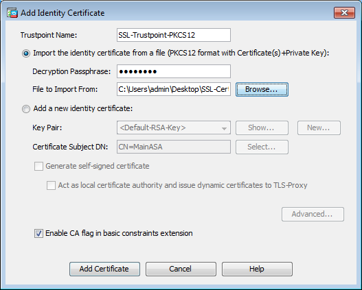Configure ASA: SSL Digital Certificate Installation and Renewal - Cisco